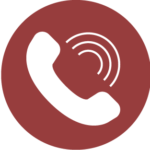Icon of a phone receiving a call.