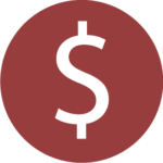 Icon of money sign.