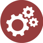 Icon of industrial gears.