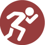 Icon of a person running.