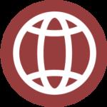 Icon symbol of the internet.
